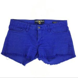Lucky brand Riley raw hem Shorts indigo blue short